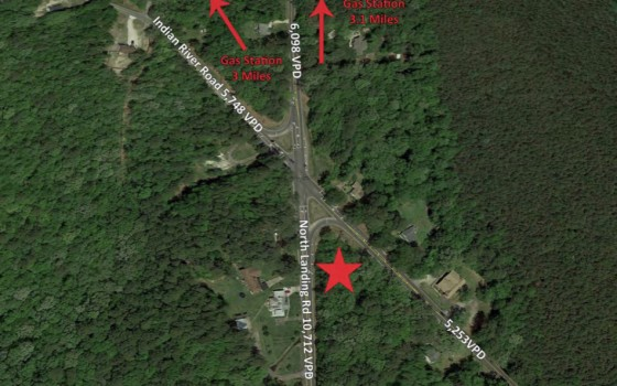 3.37 Acre Corner lot. Gas Station Needed !!